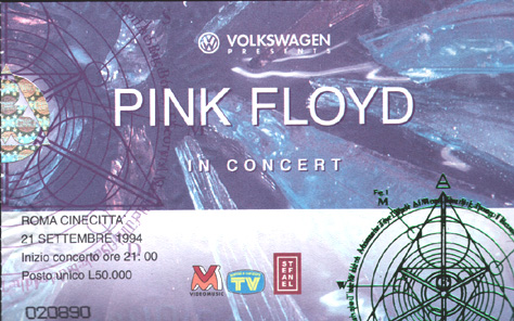 PINK FLOYD LIVE: THE FINAL LUNACY! Roma 1994